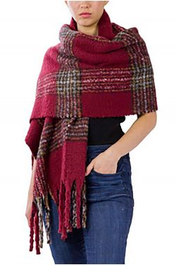 Plush Plaid Wrap | Wrap for Women