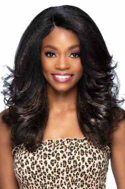 Pooky by Vivica Fox Wigs - Heat Friendly Synthetic, Lace Front, Monofilament Part Wig