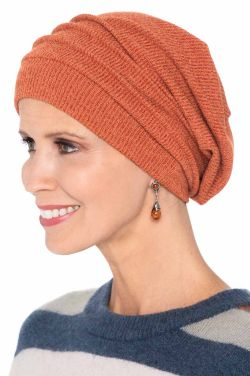 Pumpkin Spice Slouchy Sweater Knit Snood Cap | Limited Edition Fall Beanie | Knit - Pumpkin Spice |