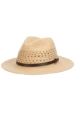 Raffia Outback with Leather Band | Brimmed Outdoor Hat for Men