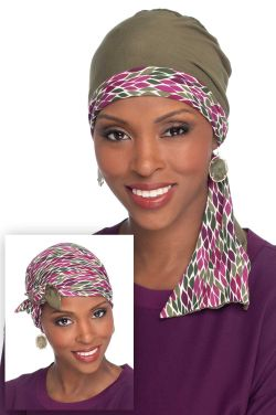 In A Snap Reversible Head Wrap | Cardani Viscose from Bamboo Scarf Cap