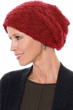 Reversible Tessa Slouchy Beanie Hat in Red | Slouch Beanies & Caps