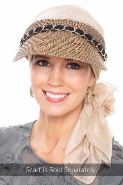 Ribbon & Chain UPF Visor | Summer Hats for Women