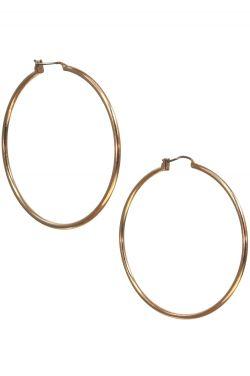"Rose Gold Plated Surgical Steel Earrings | 2"" Rose Gold XL Hoop Earrings"
