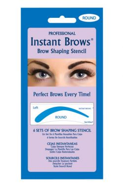 Peel and Stick Eyebrow Stencils - Round Shape