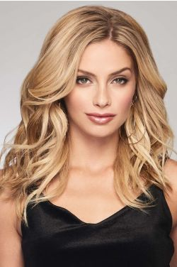"Alpha Wave 16"" Topper by Raquel Welch Wigs - Heat Friendly Synthetic, Monofilament Topper"