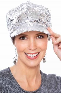 Sequined Anastasia Newsboy Cap | Newsboy Hats for Women
