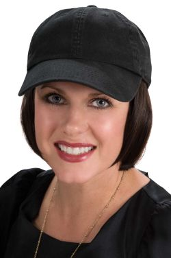Baseball Cap with Hair | Cardani Short Page Ballcap Hat with Detachable Hair