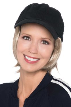 Baseball Cap with Hair | Cardani Short Page Ballcap Hat with Hair