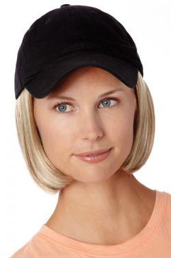 Baseball Hat with Hair: 8225 Shorty Hat Black