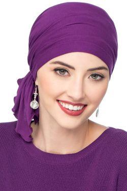Headwear for Large Heads | Cardani® Large Viscose from Bamboo Slip On Scarf