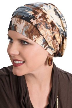 Printed Slinky Slouchy Cap | Slouch Cap Snood for Women