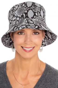 Packable Snakeskin Bucket Hat | Rain Hats for Women