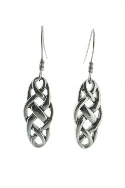 Petite Celtic Knot Dangle Earrings in Sterling Silver |