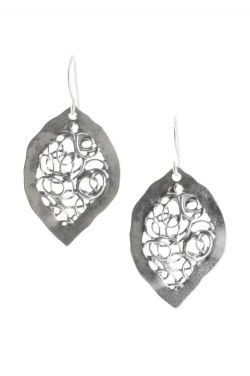 Sterling Silver Earrings | Abstract Leaves