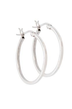 "Classic Sterling Silver 1"" Hoop Earrings"