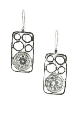 Sterling Silver Earrings | Zirconia Stepping Stones