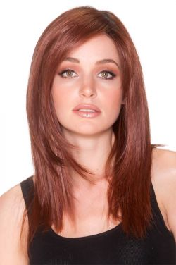 18 Inch Straight Press by Belle Tress Wigs - Heat Friendly Synthetic, Monofilament, Lace Front Wig