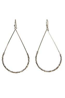 Surgical Steel Earrings | Silver Beaded Teardrop Earrings