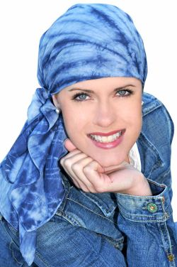 Cotton Batik and Tie Dye Head Scarf with Coordinating Scrunchie