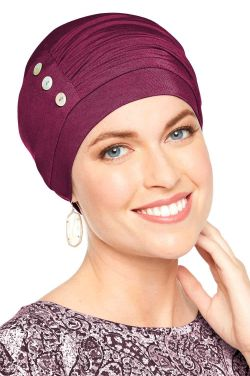 Cardani® Bamboo Synergy Hat in Holiday Bordeaux