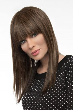 Taryn by Envy Wigs - Human Hair/Heat Friendly Synthetic Blend, Monofilament Top Wig
