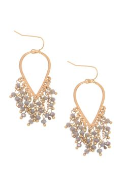 Reverse Teardrop Beaded Chandelier Earrings | Nickel Free & Hypoallergenic Earrings