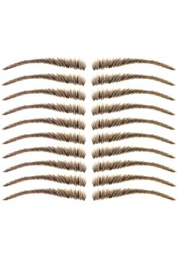 Eyebrow Tattoos #19:  Full Feathered Brow w/Shallow Arc