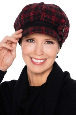Thea Plaid Newsboy | Winter Hats for Women