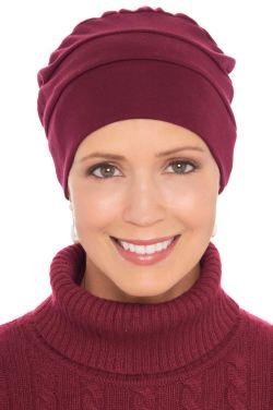 Three Seam Turbans in Burgundy Wine | 100% Cotton Hat