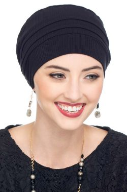 Tiffany Turban in Ribbed Bamboo Viscose | Day & Sleep Caps for Cancer Patients