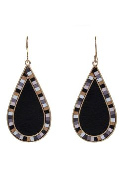 Tile Teardrop Earrings | Teardrop Style and Hypoallergenic