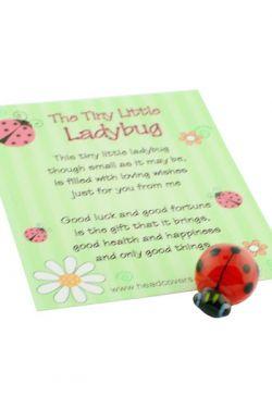 "Tiny Little ""Good Luck"" Ladybug"