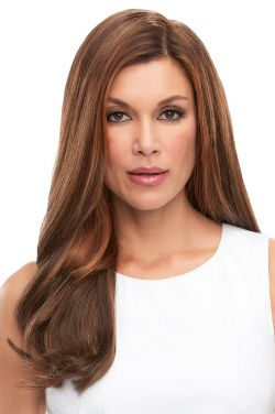 Top Full 18 Inch Human Hair Topper by Jon Renau Wigs - Double Monofilament, Hand Tied, Remy Human Hair