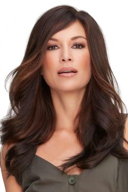 18 Inch Top Full Topper by Jon Renau Wigs - Synthetic Hair, Double Monofilament, Hand Tied Topper