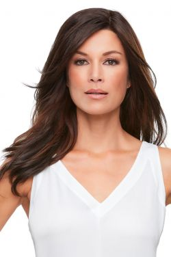 18 Inch Top Smart Topper by Jon Renau Wigs - Synthetic Hair, Lace Front, Single Monofilament Topper
