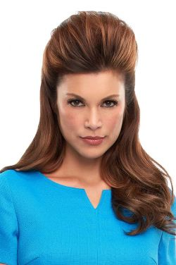 Top This 16 Inch Human Hair Topper by Jon Renau Wigs - Single Monofilament, Remy Human Hair Topper