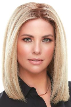 "Top Smart HH 12"" by Jon Renau Wigs - Human Hair, Lace Front, Single Monofilament Topper"