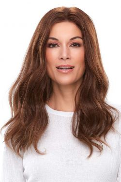 "Top Smart HH 18"" by Jon Renau Wigs - Human Hair, Lace Front, Single Monofilament Topper"