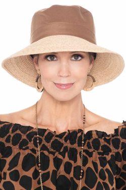 Tori Raffia and Cotton Sun Hat   UPF 50+ Sun Hats for Women