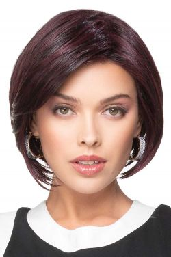 Angled Bob Wig by TressAllure Wigs - Heat Friendly Synthetic, Lace Front Wig
