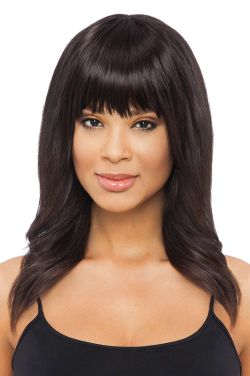 Feathered Fringe Clip In Bangs by TressAllure Wigs - Heat Friendly Synthetic