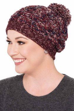 Triana Cotton Blend Pom Pom Beanie | Winter Hats for Women