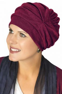 100% Cotton Trinity Turbans in Burgundy Wine | 3 Way Headcovering