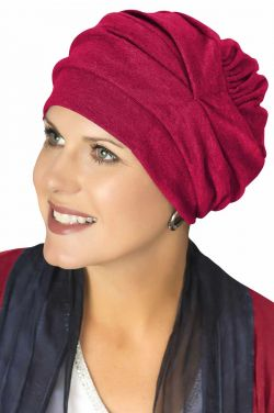 100% Cotton Trinity Turbans in Cabernet | 3 Way Headcovering