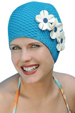 Triple Flower Swim Cap