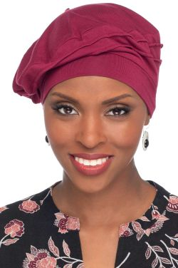 Triumph Beret in Bordeaux | Cardani® Classic French Beret in Soft Bamboo Viscose