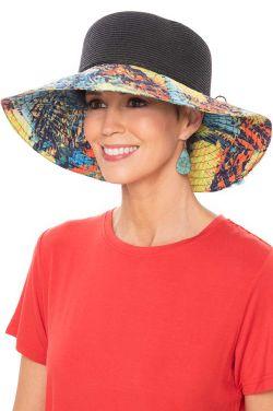 Tropical Sunset Floppy Sun Hat | Packable Summer Hat for Women
