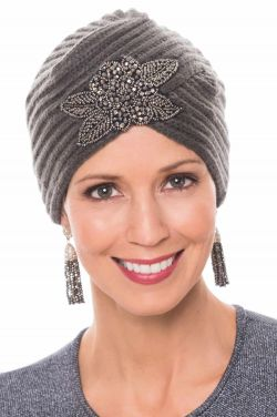 Beaded Knit Turban for Women