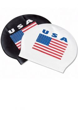 TYR USA Latex Swim Cap